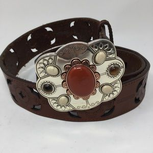 Brighton Afrikaans Laser Leather Belt